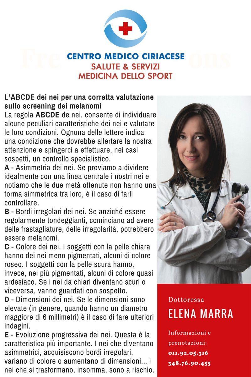 Dermatologia - L'ABCDE dei nei