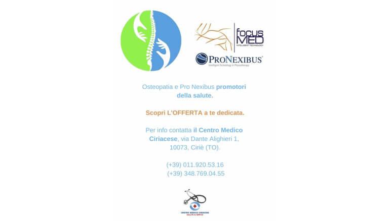 Osteopatia e Pro Nexibus promotori della salute