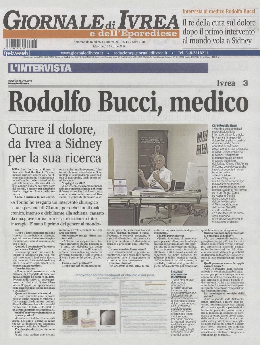 Rodolfo Bucci, il medico