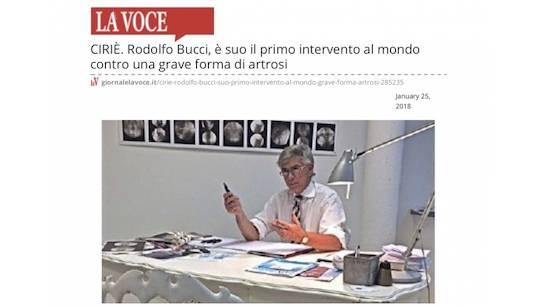 Rodolfo Bucci, è suo il primo intervento al mondo contro una grave forma di artrosi